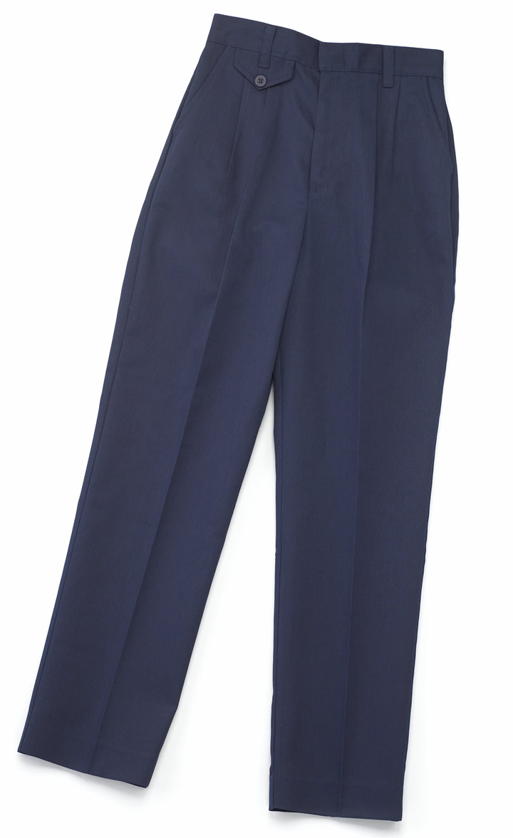 Girls Navy Twill Poly/Cotton Pants