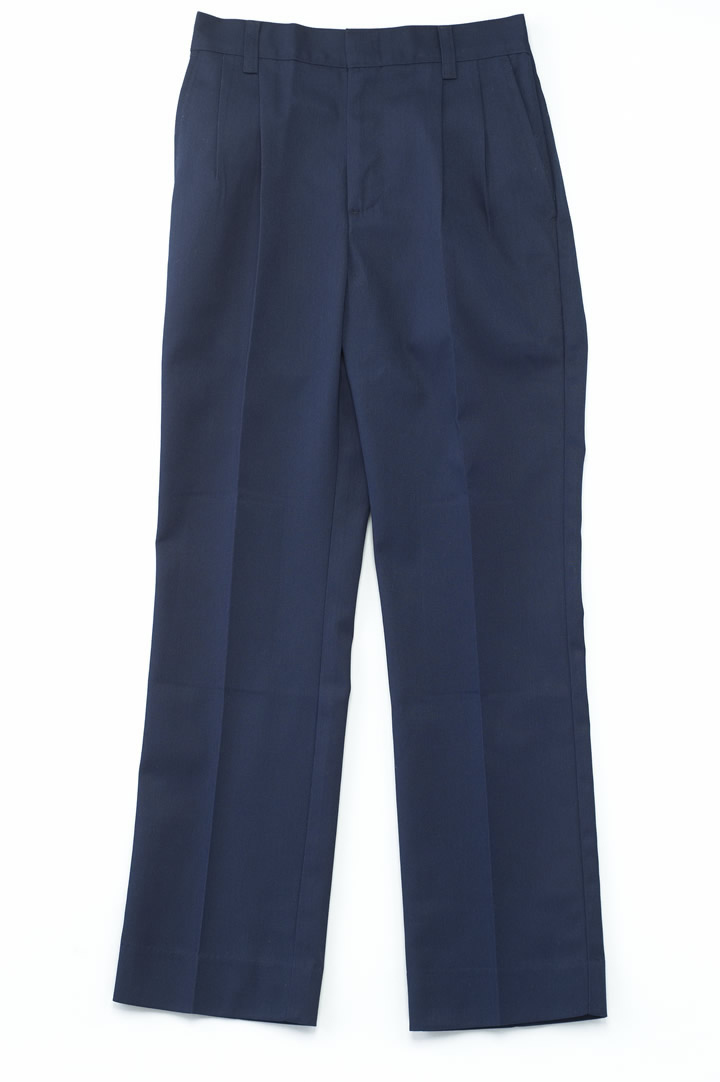 Boys Navy Twill Poly/Cotton Pants