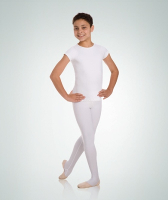 Body Wrappers Boys Ballet Dancewear Short Sleeve Snug Fit Pull