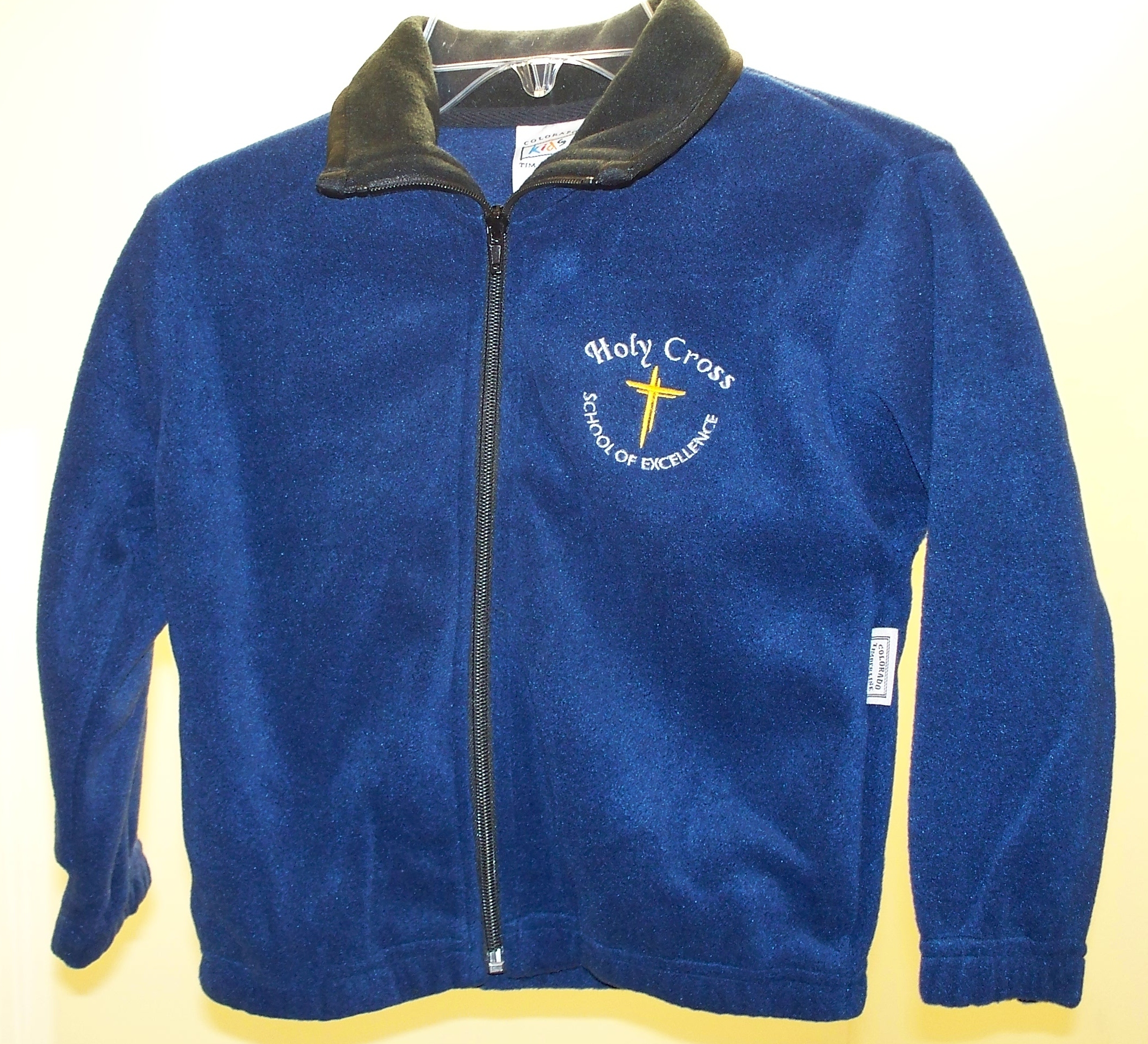 Holy Cross Navy Full Zip Fleece