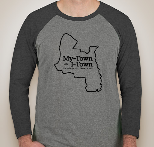 I-Town Next Level Unisex Triblend 3/4-Sleeve Raglan