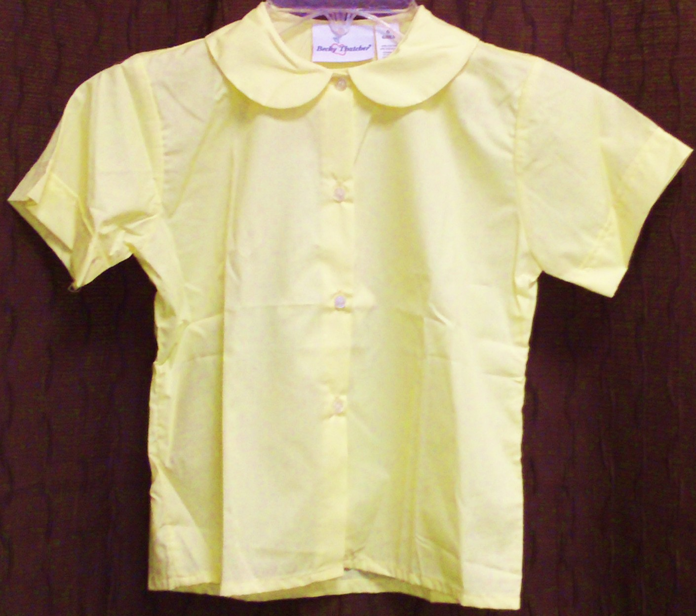 Holy Cross Peter Pan Blouse Short Sleeve